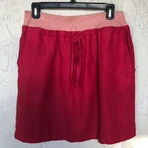 DAUGHTERS OF THE LIBERATION Orange Linen Skirt
